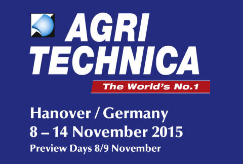 Meet us at Agritechnica 2015 in Hannover, Hall 18 stand A09