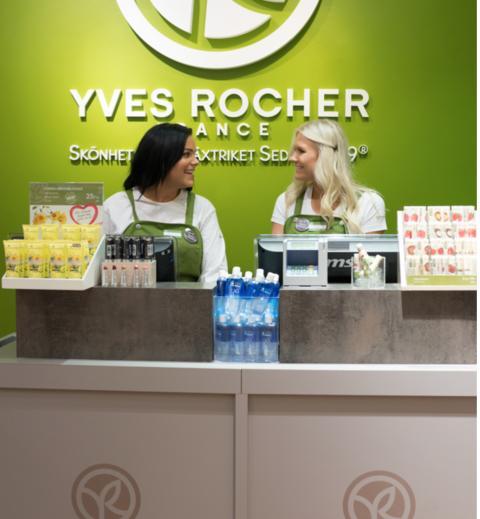 Gratis hudanalys i Yves Rochers butiker firar ett år