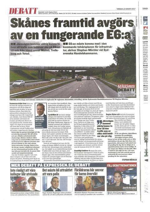 Skånes framtid avgörs av en fungerade E6:a