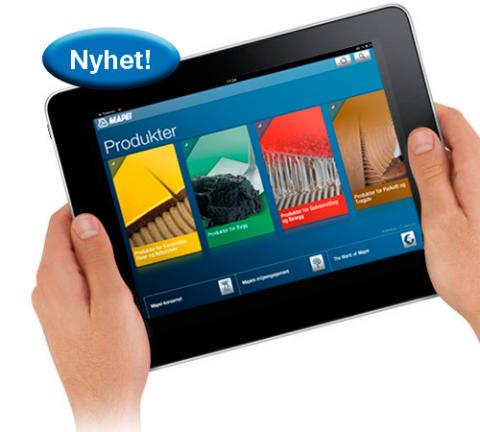 Mapei-app til iPhone & iPad - bilde uten iphone