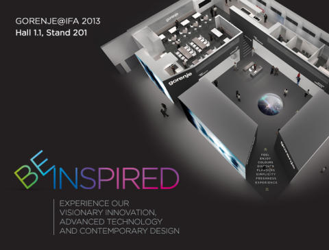 BE INSPIRED - Experience Gorenje´s visionary innovation, advanced technology and contemporary design @IFA, Berlin