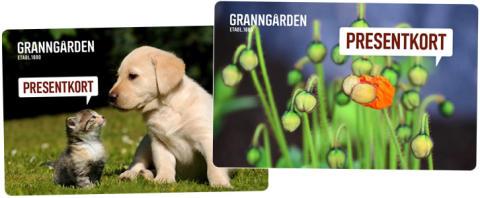 Granngården lät sina kunder designa presentkorten