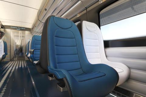 Hitachi Rail Europe debuts conceptual high speed train interiors