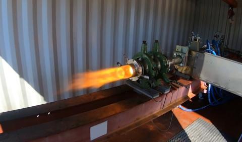 Ramjet test firing