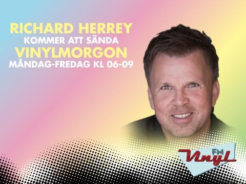 Richard Herrey sänder ny morgonshow på Vinyl FM