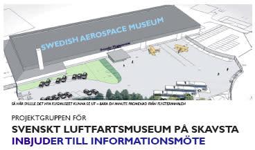 Pressinformation om Sveriges Luftfartsmuseum på Skavsta Flygplats