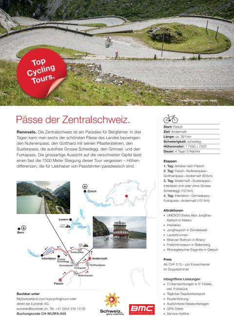 Fact Sheet Top Cycling Tour Pässe der Zentralschweiz