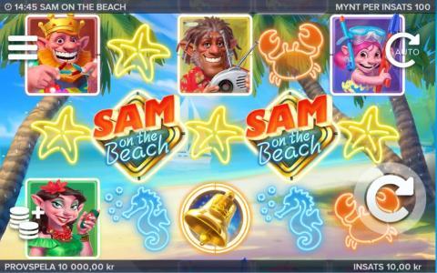 Sol, sand och fantastiska vinster i Sam on the Beach!