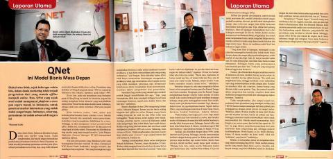 QNET in Pengusaha Indonesia magazine