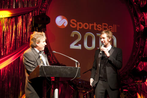 SportsAid alumnus Sir Bradley Wiggins at the SportsBall in 2010