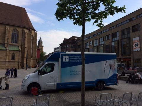 Beratungsmobil der Unabhängigen Patientenberatung kommt am 20. Juli nach Heilbronn.