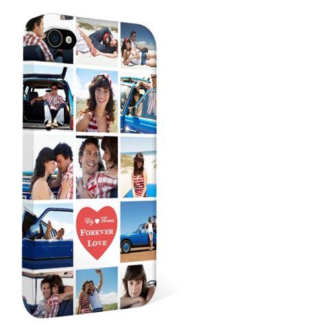 Kvadratiska bilder på mobilskalet