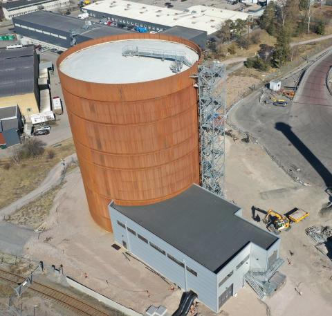 Ny ackumulatortank ger reservkapacitet i Uppsala