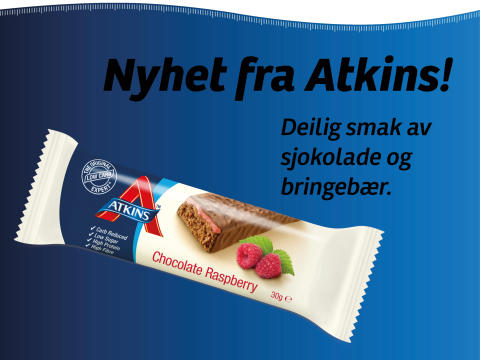 NYHET! Atkins Advantage Chocolate Raspberry
