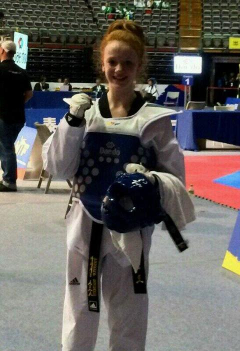 Abigail Stones becomes junior world taekwondo champion in Taipei
