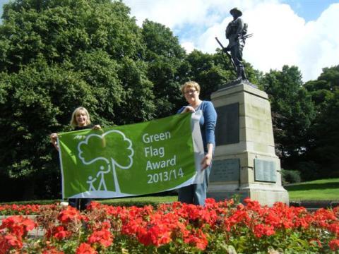 Green Flag raised in Milnrow Park