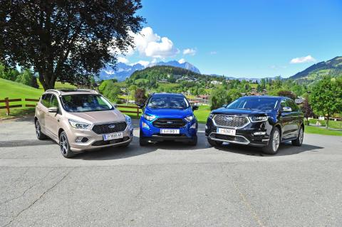Ford erstmals mit einer kompletten Allrad-SUV-Palette in Österreich am Markt