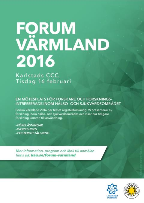 Program för Forum Värmland 2016