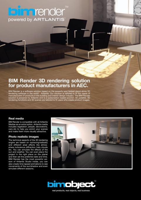 BIM Render product sheet