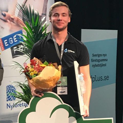 Ung VD i mogen bransch! Filip Printzell Årets UNga Nyföretagare 2017!