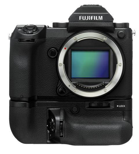 GFX 50S front with  EVF and VG-GFX1