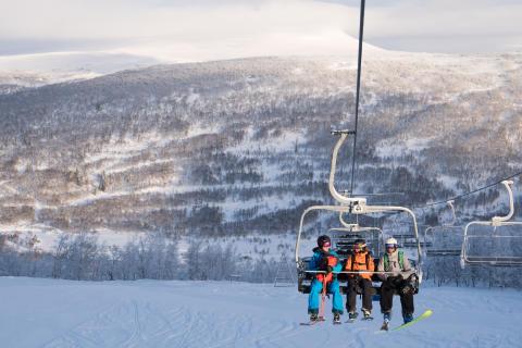 Vintersemester i Ramundberget lockar allt fler