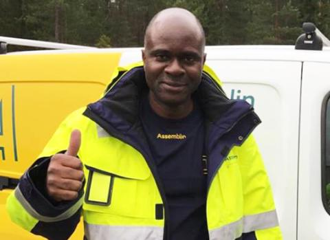 Efter 22 år på flykt hittade han jobb och livsglädje