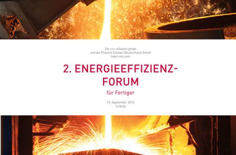 """Fachveranstaltung für Fertiger """"2. Energieeffizienz-Forum"""""""