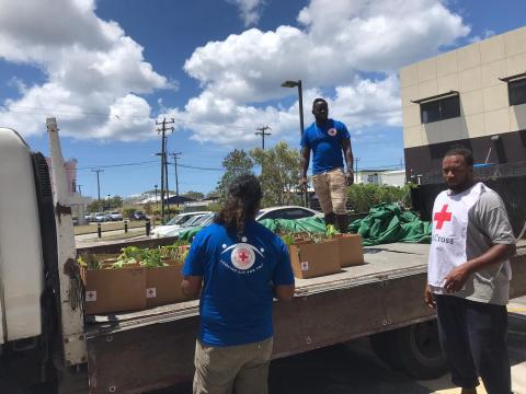 Fred. Olsen Cruise Lines donates food container to benefit local charities in Barbados