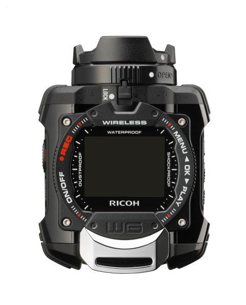 Ricoh WG-1M actionkamera sort ovenfra
