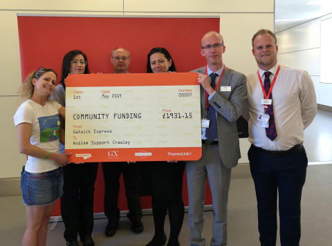 Crawley Autism charity donation