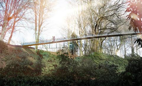 Ny gångbro till Sofiero
