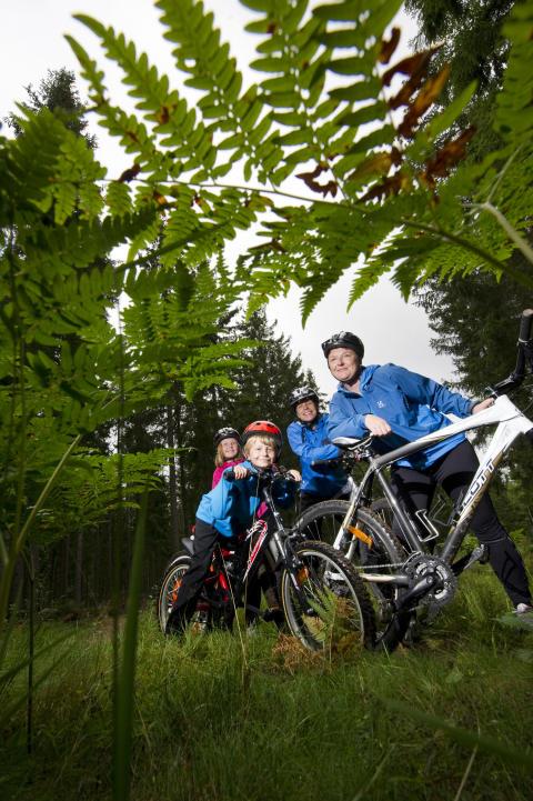 Cykeltur i vildmark