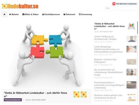 Inbjudan till workshop om nyhetskanalen lindekultur.se