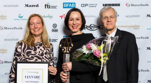 Ivana Kildsgaard och 100gruppen vinnare på Återvinningsgalan
