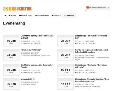 Ny kalender visar vad som händer i kultur-Lindesberg