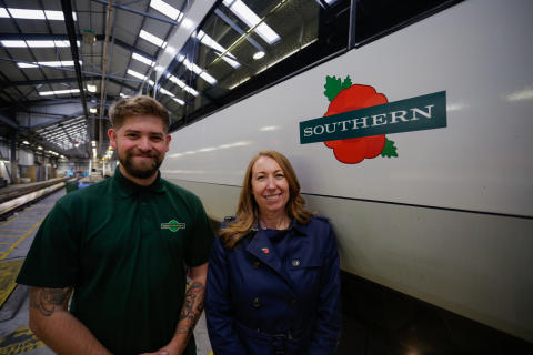Rail remembers workers' wartime service with launch of poppy train