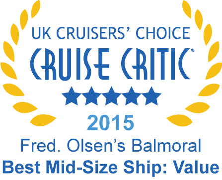 Fred. Olsen Cruise Lines wins five top accolades in the  Cruise Critic 'UK Cruisers' Choice Awards 2015'