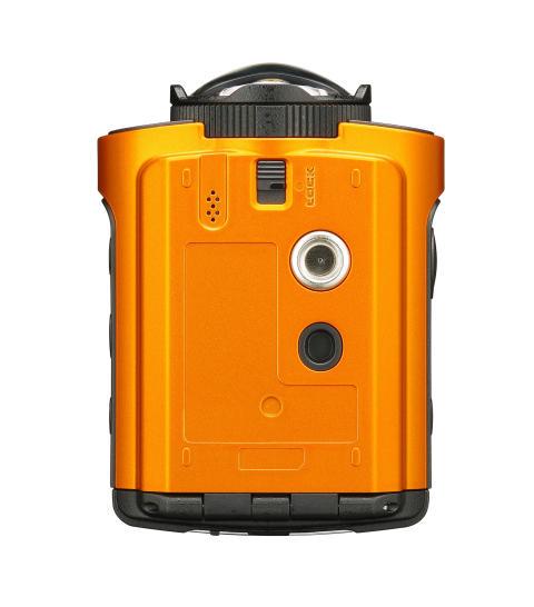Ricoh WG-M2, oransje underside