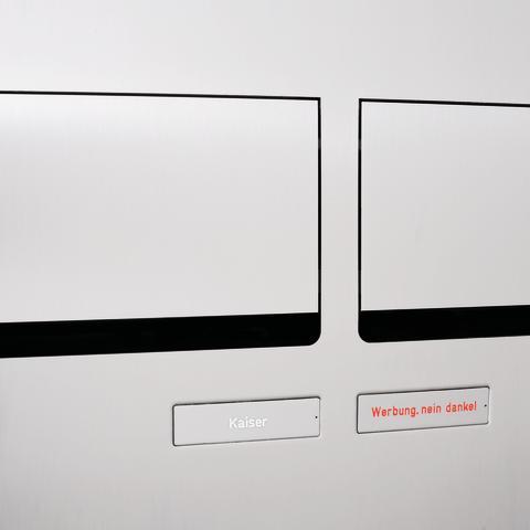 Renz Plan S postkasseanlæg Rustfrit stål