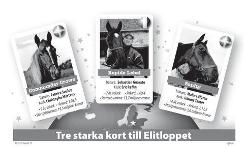Tre starka kort till Elitloppet 2012 svart/vit jpg