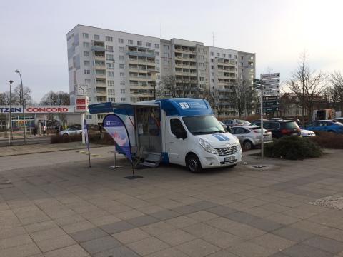 Beratungsmobil der Unabhängigen Patientenberatung kommt am 15. August nach Schwedt (Oder).