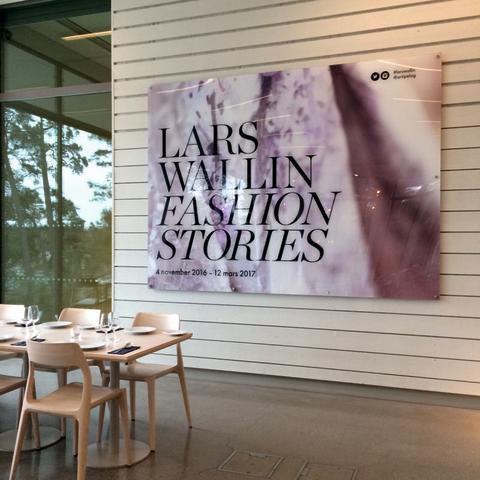 Skylt från Clarex, Artipelag utställning Lars Wallin bild 2