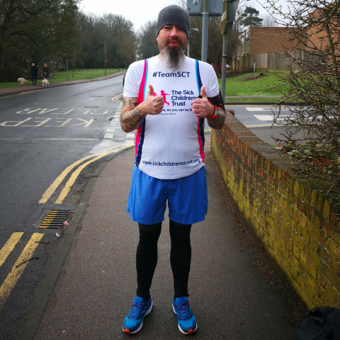 Not even the 'Beast from the East' stopped this determined dad from raising over £1,200 for charity