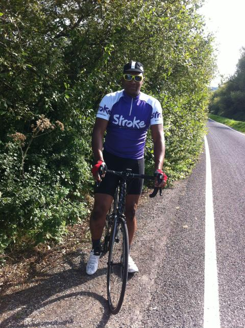 Stroke survivor gets back in the saddle to take on the Bristol 100 for the Stroke Association