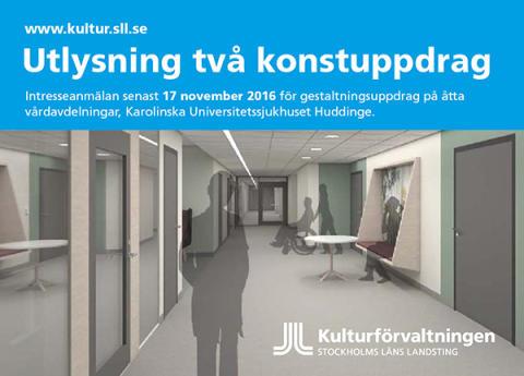 Utlysning Konstuppdrag Huddinge Allmänpsykiatri