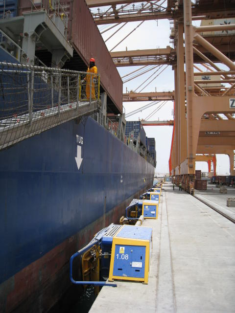 Image (3) of Cavotec MoorMaster™ MM200C units at the Port of Salalah, Oman