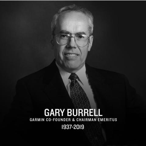 Garmin® meddeler at en av gründerne og Chairman Emeritus Gary Burrell har gått bort