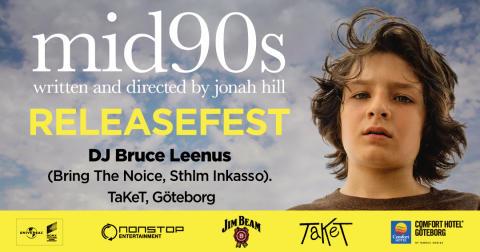 Välkommen på releasefest för DVD-releasen av Jonah Hills regidebut MID90's