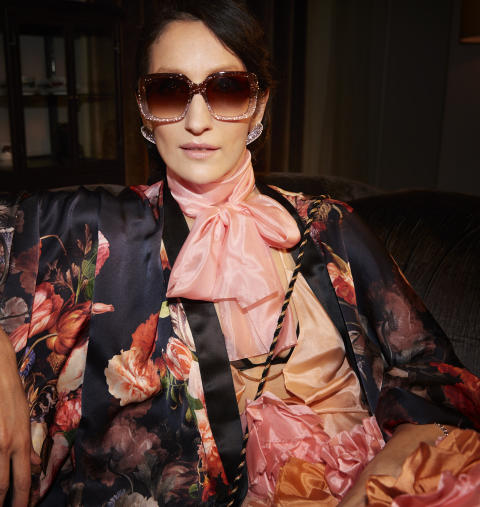 Marina Kereklidou in her Gucci